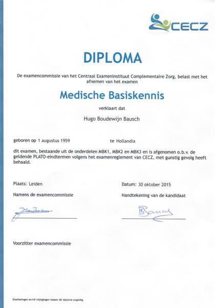 Massage Affairs diploma Medische Basiskennis Plato