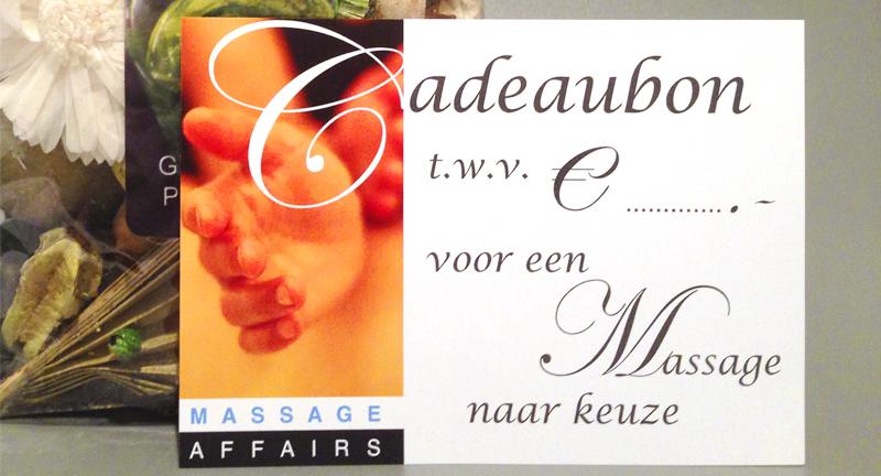 Massage Affairs cadeaubon